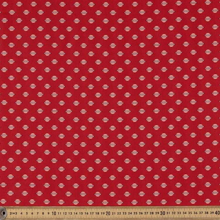 Washington St Studio Temperance Red Circle Line Cotton Fabric
