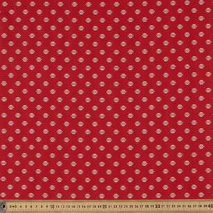 Washington St Studio Temperance Red Circle Line Cotton Fabric