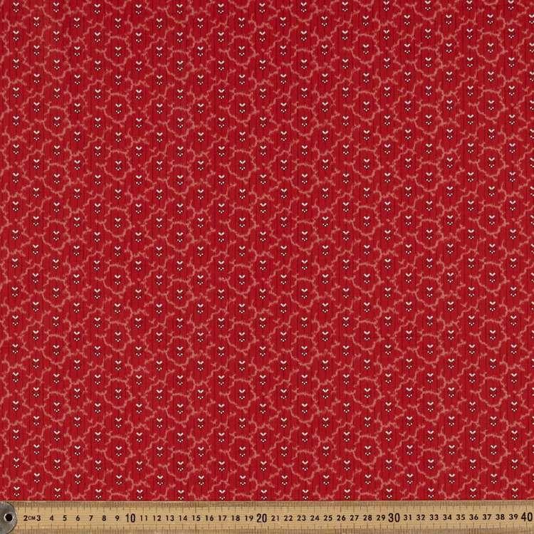 Washington St Studio Temperance Red Deco Stripe Cotton Fabric