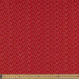 Washington St Studio Temperance Red Deco Stripe Cotton Fabric