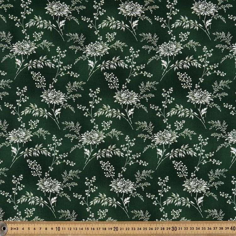 Washington St Studio Temperance Green Large Floral Cotton Fabric