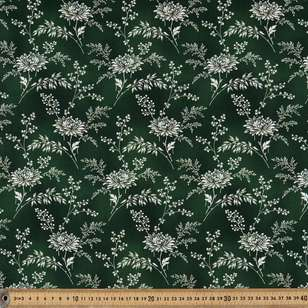 Washington St Studio Temperance Green Large Floral Cotton Fabric