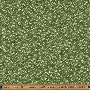 Washington St Studio Temperance Green Scroll Floral Cotton Fabric