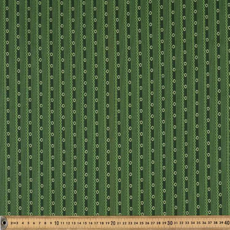 Washington St Studio Temperance Green Ticking Cotton Fabric