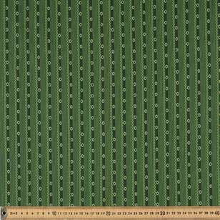 Washington St Studio Temperance Green Ticking Cotton Fabric