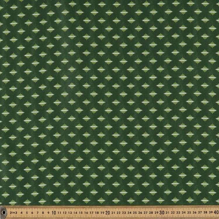 Washington St Studio Temperance Green Circle Line Cotton Fabric