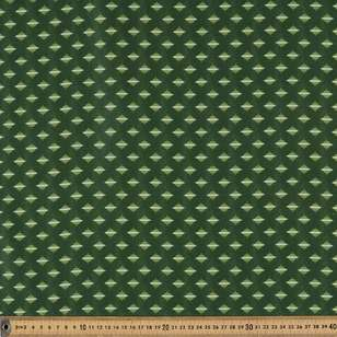 Washington St Studio Temperance Green Circle Line Cotton Fabric