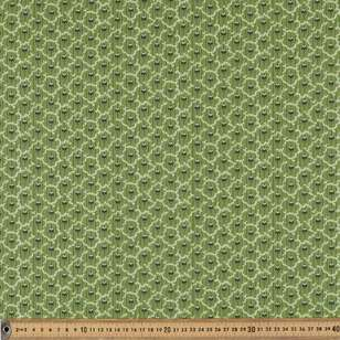 Washington St Studio Temperance Green Deco Stripe Cotton Fabric