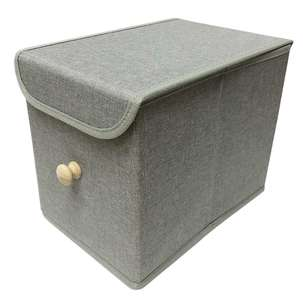 Living Space Linen Foldable Small Storage Box