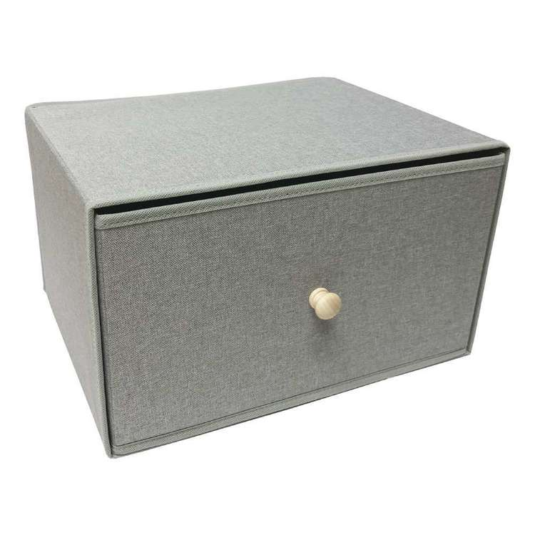 Living Space Linen Foldable Large Storage Draw Box