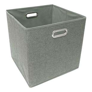 Living Space Linen Foldable Storage Cube