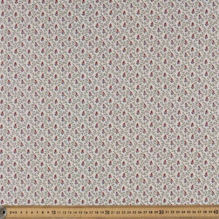 Washington St Studio French Paisley Vines & Buds Cotton Fabric