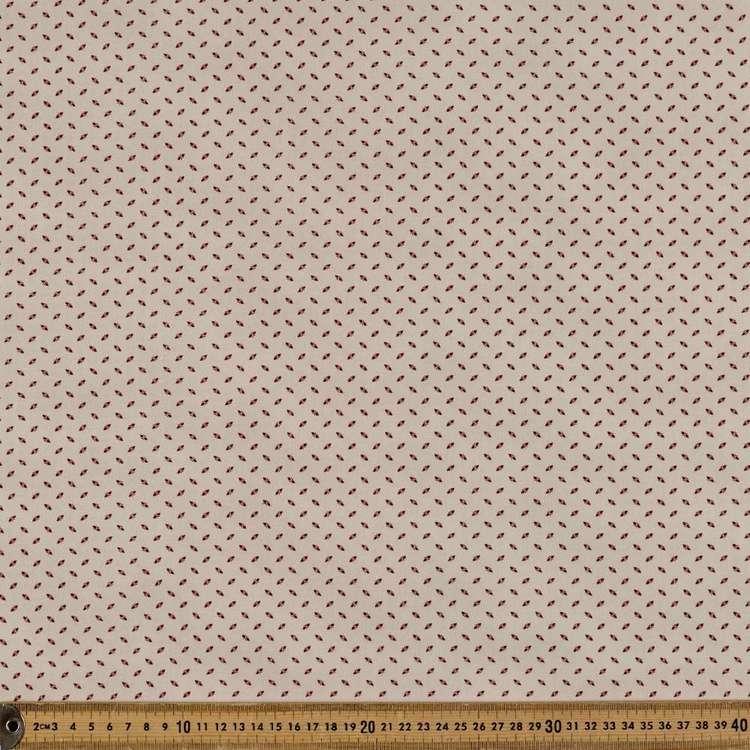 Washington St Studio French Paisley Ticking Cotton Fabric