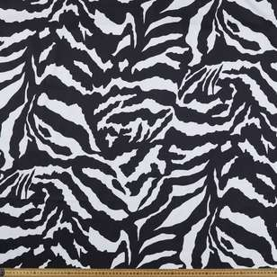Zebra Printed Cotton Sateen Fabric