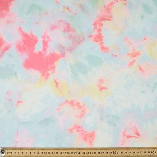 Tie Dye Printed Cotton Jersey Fabric