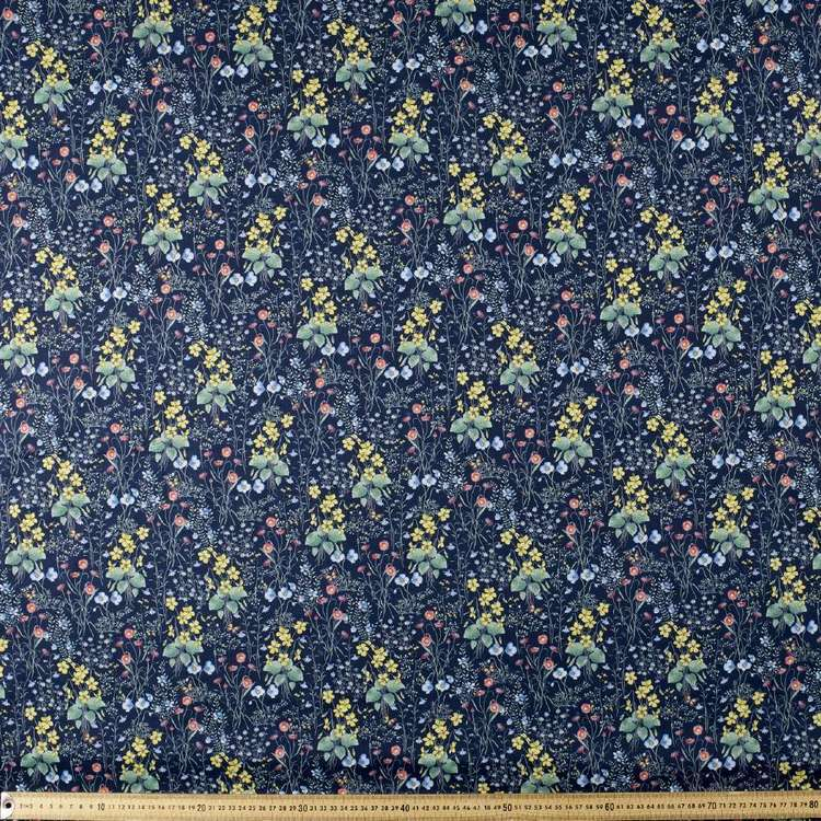 Spring Bloom Printed Japanese Lawn Fabric