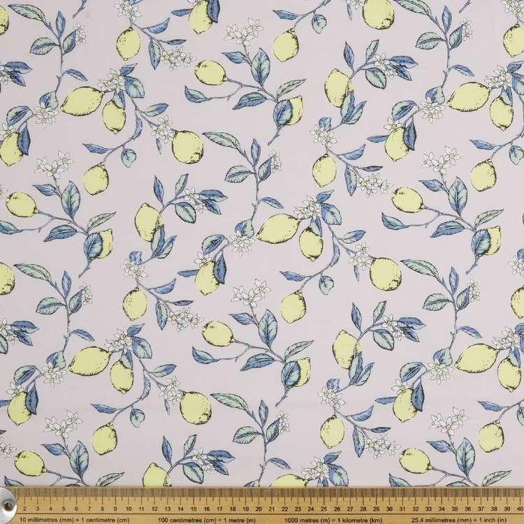 Lots Of Lemons Printed Japanese Lawn Fabric