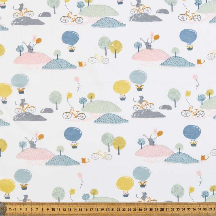 Playtime Printed 138 cm Muslin Fabric