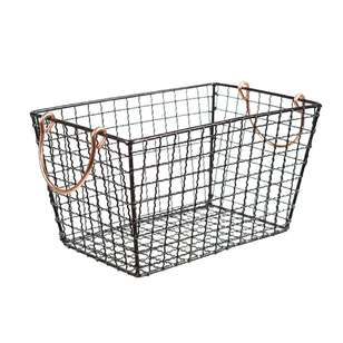 Living Space Wire Mesh Basket With Handle