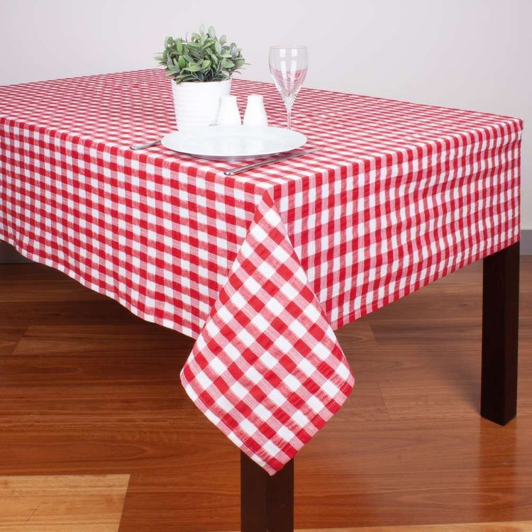 Dine By Ladelle Roxby Check Tablecloth