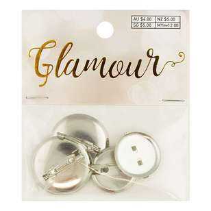 Ribtex Glamour Round Metal Brooch
