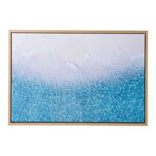 Ombre Home Weathered Coastal Ocean Framed Canvas