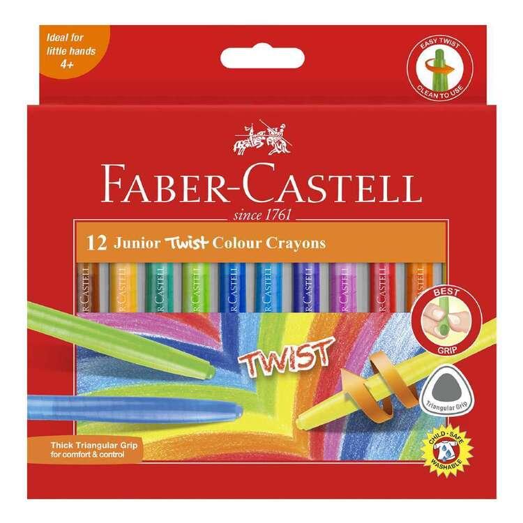 Faber Castell Junior Triangular Twist Crayon 12 Pack