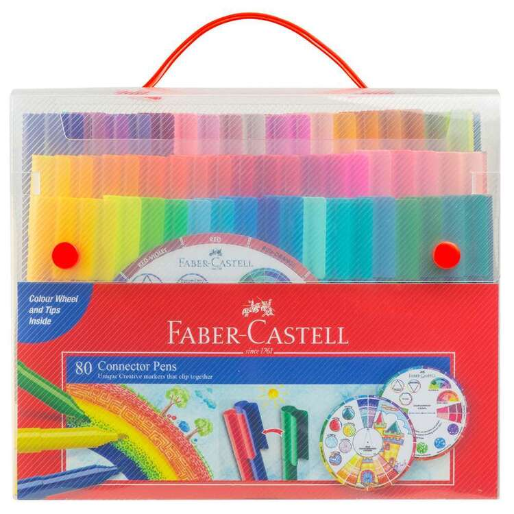 Faber Castell 80 Connector Pens Set With Colourwheel