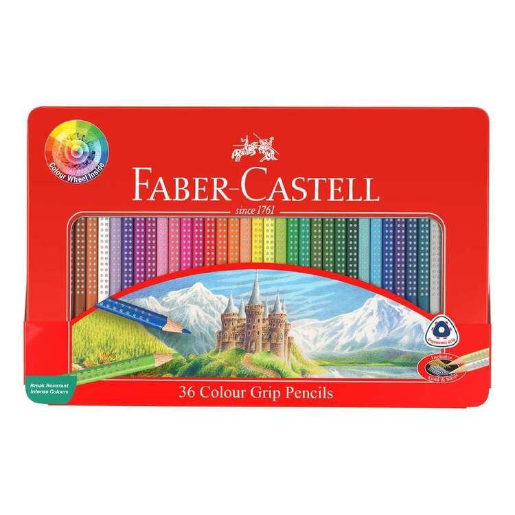 Faber Castell 36 Grip Colour Pencil Metal Tin Set