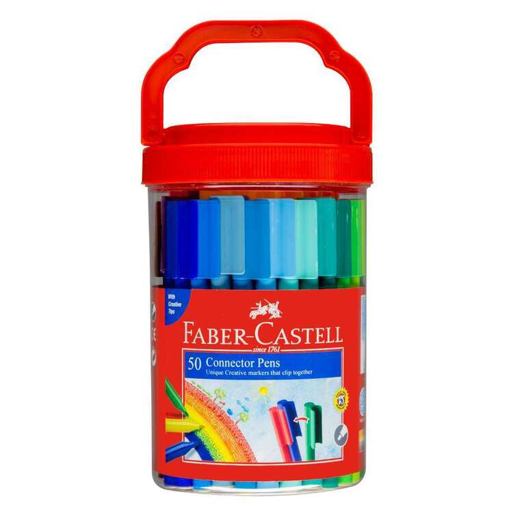 Faber Castell 50 Connector Pens Jar