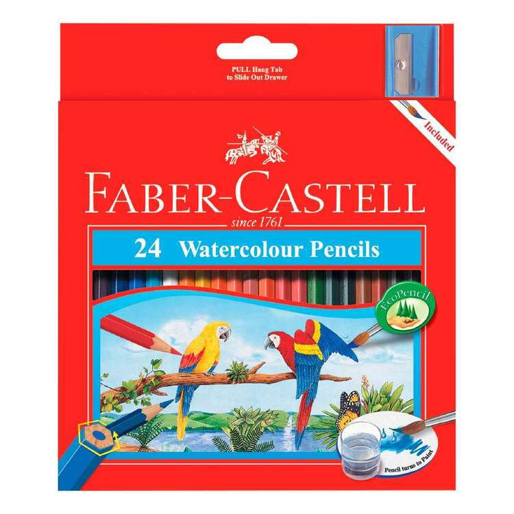 Faber Castell Regular Watercolour Pencil 24 Pack
