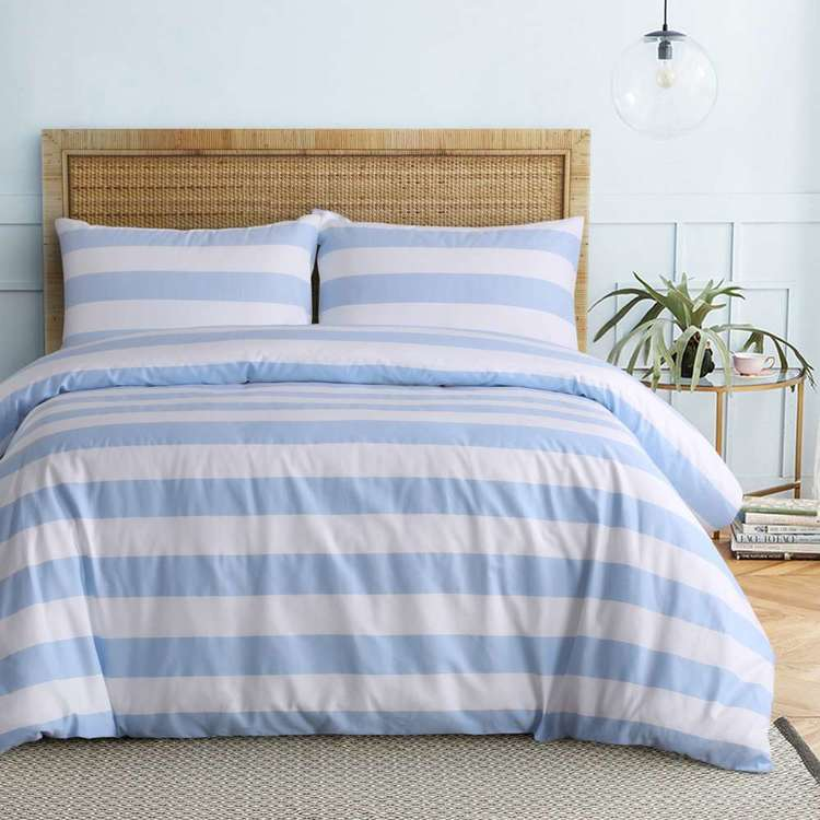 KOO Sardinia Stripe Quilt Cover Set