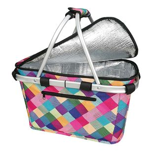Sachi Harlequin Insulated Carry Basket