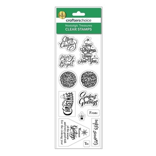 Crafters Choice Nostalgic Treasures Sentiments Stamp