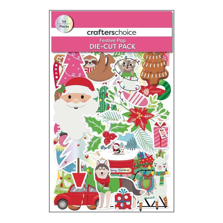 Crafters Choice Festive Pop Die-Cuts 54 Pack