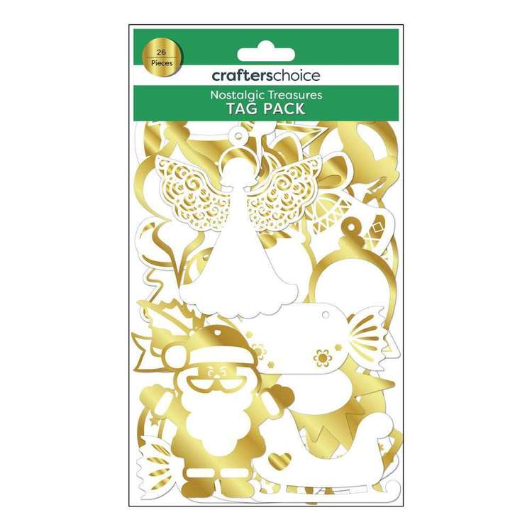 Crafters Choice Nostalgic Treasures Tag Pack  Yellow