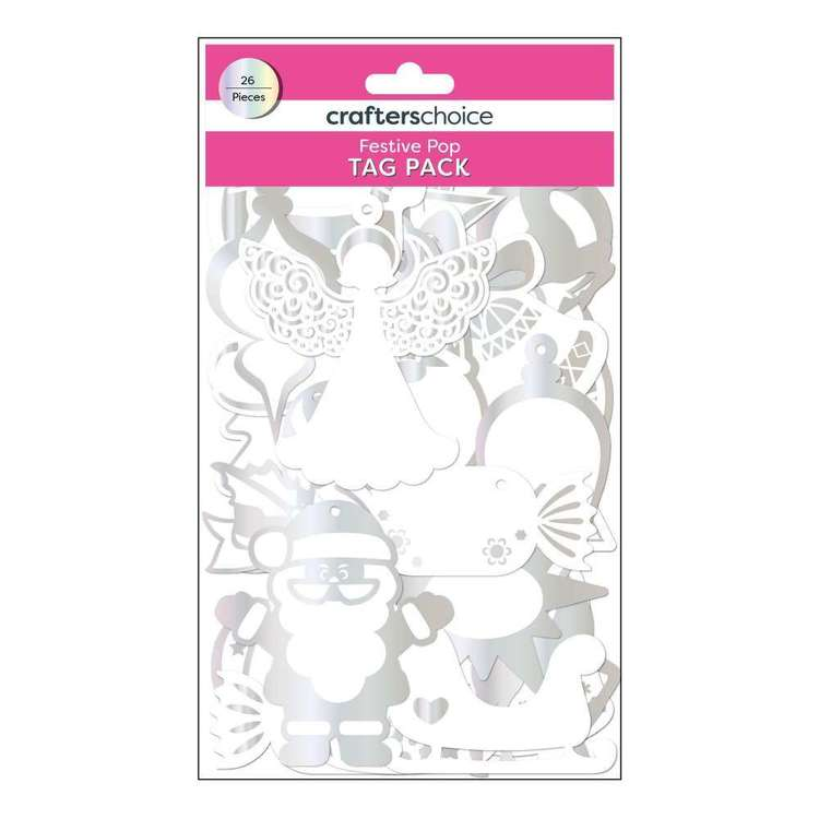 Crafters Choice Festive Pop Tag Pack 26 Pack