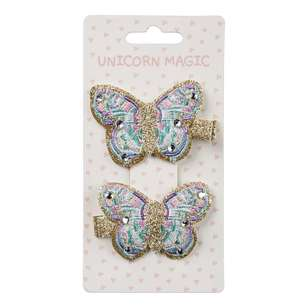 Unicorn Magic Hair Clip Butterfly 2 Pack