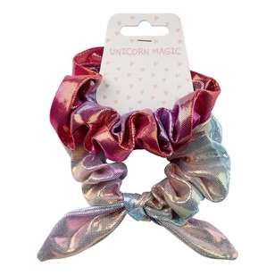 Unicorn Magic Rainbow Scrunchie 2 Pack