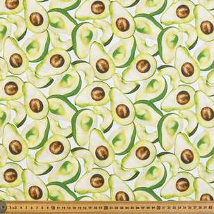 Avocado Digital Printed Organic Cotton Poplin Fabric