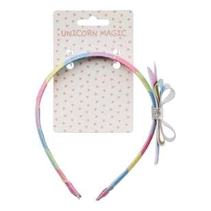 Unicorn Magic Headband Rainbow Bow