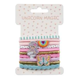 Unicorn Magic Fancy Hair Elastics 10 Pack