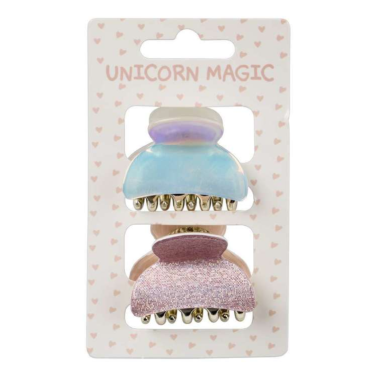 Unicorn Magic Acrylic Claw Clip 2 Pack