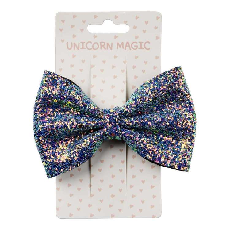 Unicorn Magic Hair Clip Glitter Bow