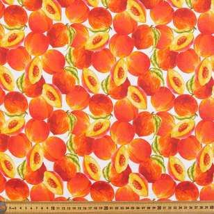 Peaches Digital Printed Organic Cotton Poplin Fabric