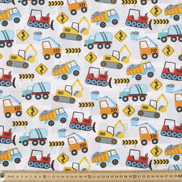 Worksite Printed Cotton Poplin Fabric