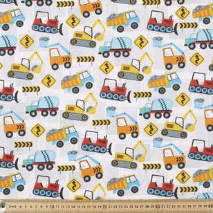 Worksite Printed Cotton Poplin Fabric