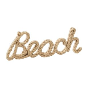 Ombre Home Weathered Coastal Beach Typo Rope Hanging