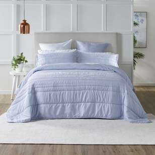 KOO Luna Periwinkle Embroidered Coverlet