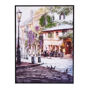 The Art Group Tag Richard Macneil Sunrise Cafe Framed Canvas